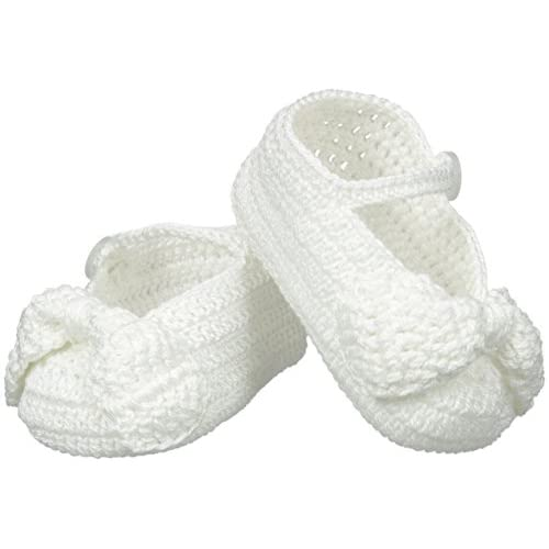 4695dbf11fb Jefferies Socks Baby-Girls Newborn Mary Jane Bow Crochet Bootie ...