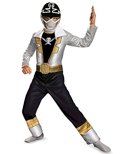 Disguise Saban Super MegaForce Power Rangers Special Ranger Silver Classic Boys Costume, (Saban Super Megaforce Power Rangers Muscle Costume)