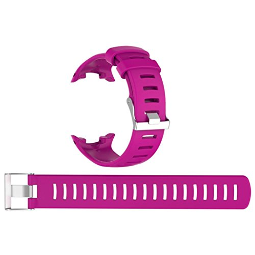 Adidas Fossil Watch - YJYdada Replacement Silicagel Soft Band Strap For Suunto D4/D4i Novo Watch (Hot Pink)