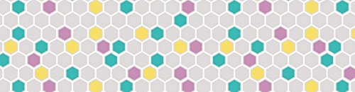 - Colorful Hexagons Straight Borders