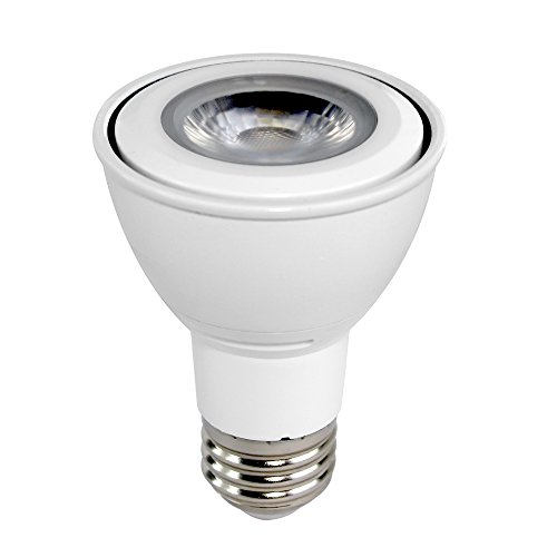 Euri Lighting EP20-2050ew LED PAR20 Bulb, MCOB Line, Cool White 5000K, Dimmable, 7W (50W Equivalent), 500 lm, 40 Degree Beam Angle, 90+ CRI, Medium Base (E26), UL & Energy Star Listed ()