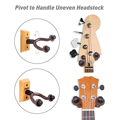 Guitar Wall Mount Hanger 2 Pack Ohuhu Guitar Hanger Wall