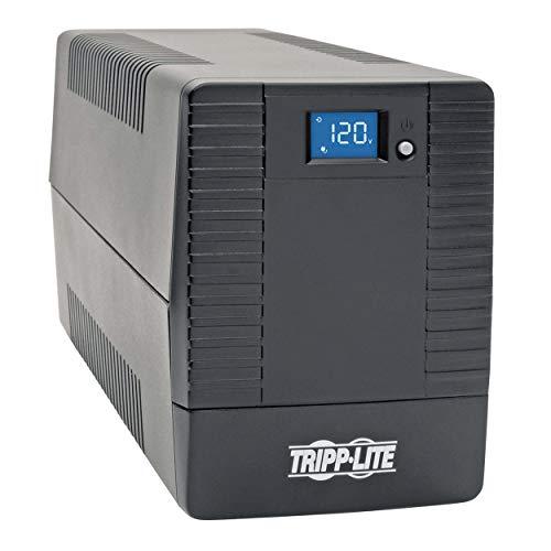Tripp Lite 700VA UPS Battery Backup Surge Protector, Line Interactive UPS, Avr, 6 NEMA 5-15R Outlets, NEMA 5-15P Plug, 120V UPS, USB, Tower (OMNI700LCDT)