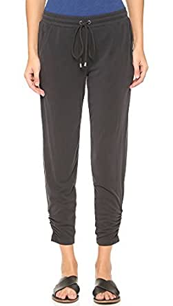 Splendid Women's Sandwash Jersey Track Pants, Black, Large