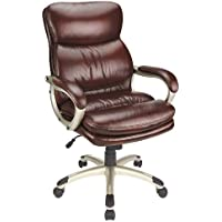 Realspace 44269 Leather High-Back Chair