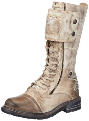 Yellow Cab Soldier W, Women's Combat Boots Grey (Taupe)