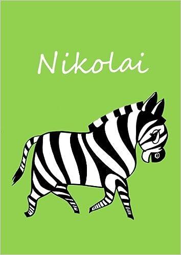 Malbuch / Notizbuch / Tagebuch - Nikolai - Zebra - grün ...