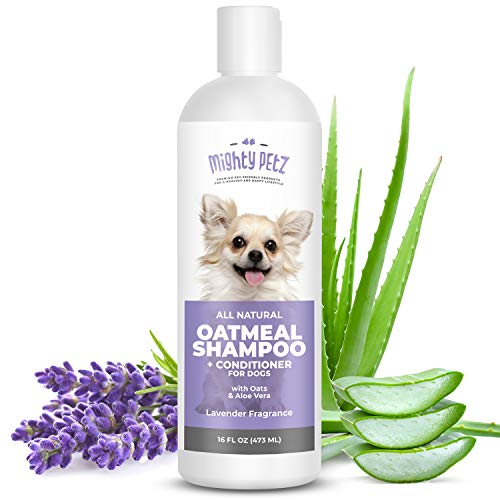 2-in-1 Oatmeal Dog Shampoo and Conditioner – All Natural Relief for Itchy, Dry, Sensitive Skin with Soothing Aloe Vera…