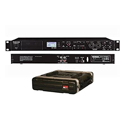 "Tascam SD-20M 4-Track Solid-State Recorder - With Gator Cases GR-2L Standard Rack Case, 2U, 19"" Deep"