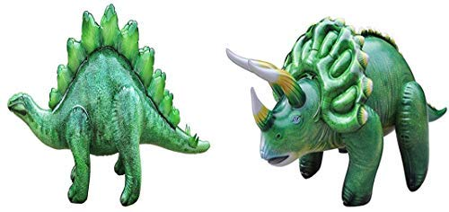 Jet Creations Inflatable Dinosaur 2 Pack - Stegosaurus and Triceratops ()
