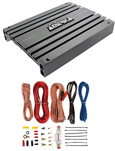 PYRAMID PB918 2000W 2 Channel Car Audio Amplifier Power Bridgeable+8 Ga Amp Kit