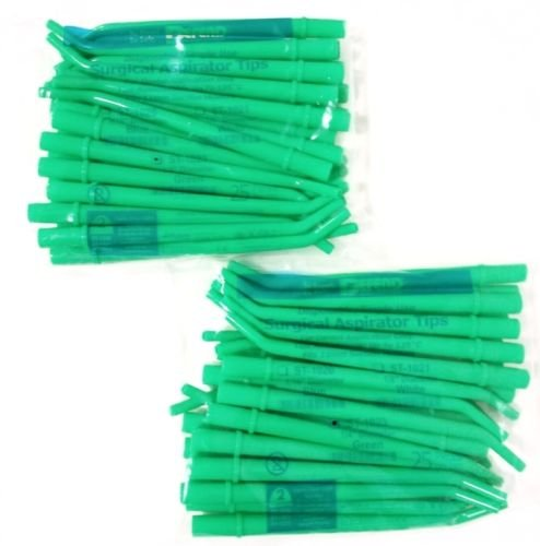 DEFEND DISPOSABLE SURGICAL ASPIRATOR TIPS #ST-1023 GREEN 50PCS/2BAGS 1/4
