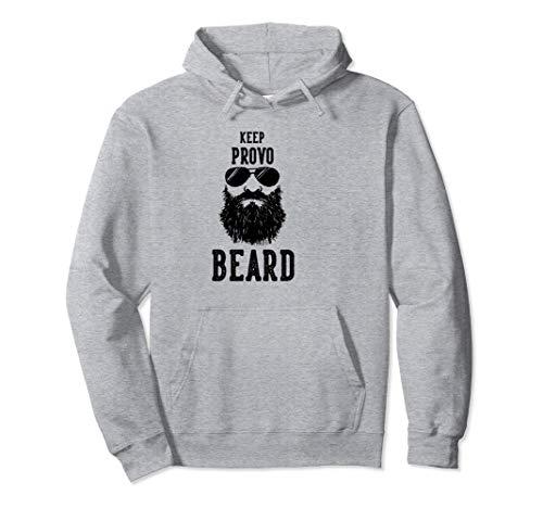Keep Provo Utah BEARD Funny Hipster Retro  Pullover ()
