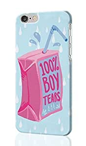 100% Boy Tears Pattern Image - Protective 3d Rough Case Cover - Hard Plastic 3D Case - For iPhone 6 Plus- 5.5
