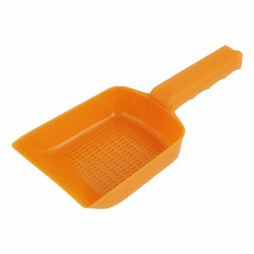 XMHF Plastic Aquarium Fish Tank Garden Sand Soil Scraper Cleaning Pan Scoop Shovel Orange by XMHF