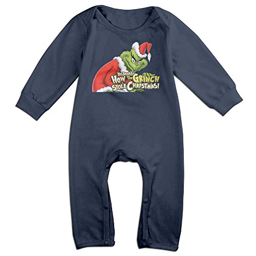 Grinch Outfits (DIANA KidsToddler The Grinch Stole Christmas Romper Bodysuit Outfits 12 Months Navy)