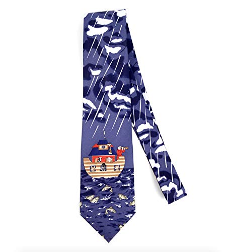(Parquet Men's Novelty Fashion Neckties with Gift Box - Religious Themed (Multiple Patterns to Select From) (Noah's Ark))