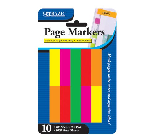 BAZIC Page Marker 1 75 Count