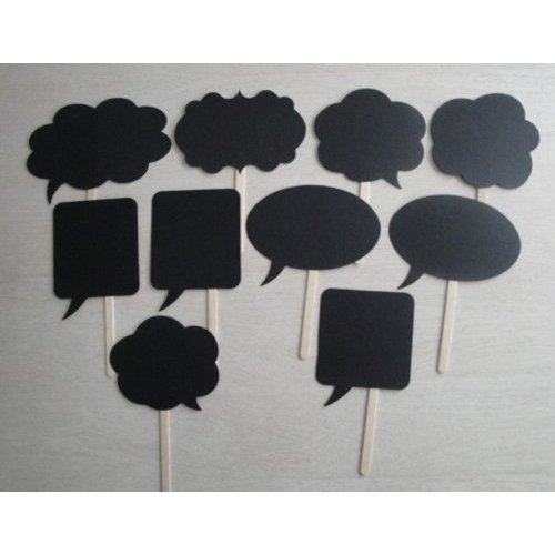 10pcs Wedding Photo Booth props fiesta de signos de bocadillos en un palo para ducha decoraci/ón