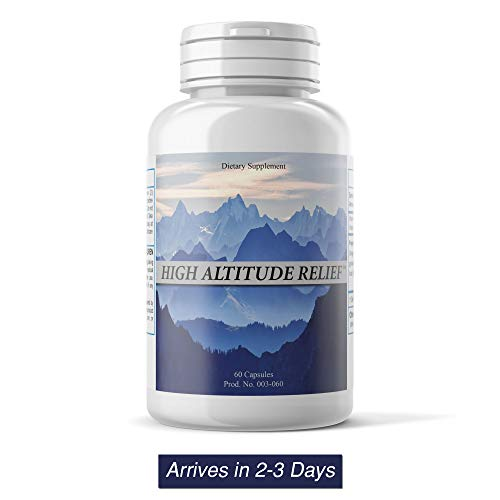 High Altitude Relief (60 Vegi Capsules) - Colorado's #1 Product for Altitude Sickness
