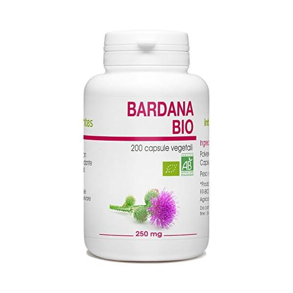 Bardana Bio - Arctium lappa - 250mg - 200 capsule vegetali 1 spesavip