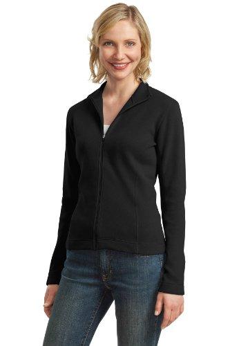 Port Authority Women's Flatback Rib Full Zip Jacket XL Black