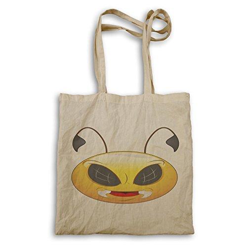 Smiley-schlechte Bienen-Gesichts-Neuheit-lustige Vintage Kunst Tragetasche a220r