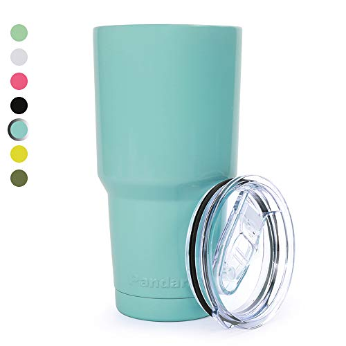 Pandaria 30 oz Stainless Steel Vacuum Insulated Tumbler with Lid - Double Wall Travel Mug Water Coffee Cup for Ice Drink & Hot Beverage, Baby Blue (Alternative To Opening Gifts At Bridal Shower)