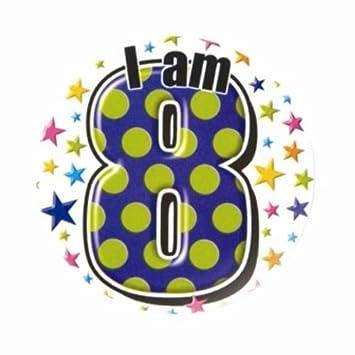 CREATIVE 5cm insignia del feliz cumpleaños 8 años de edad ...