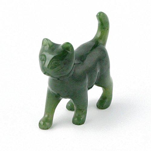 - Nephrite Jade Cat Walking Carving - 2 Inch