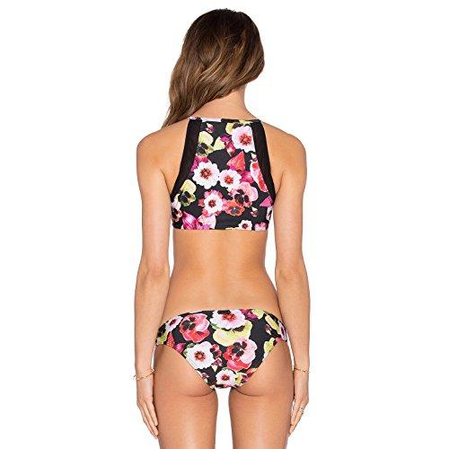 SHISHANG damas bikini traje de Europa y América dividida cremallera del traje de baño de aguas termales de alta elasticidad del medio ambiente as figure