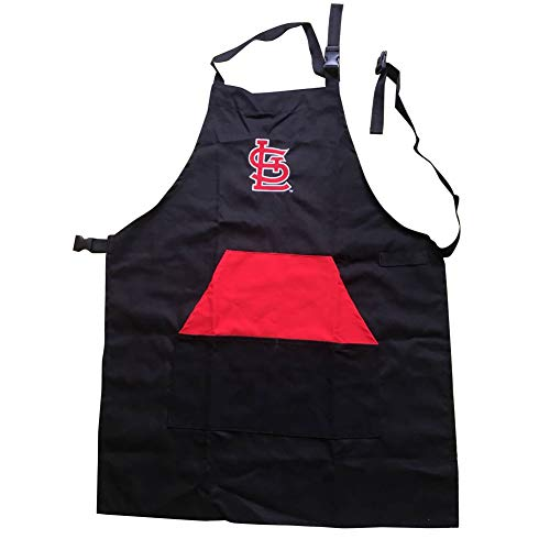 ENJOY 11 Adjustable Professional Grade Chef Apron for Kitchen, BBQ, and Grill (Black) with Towel Loop (St. Louis) (Apron Louis St)