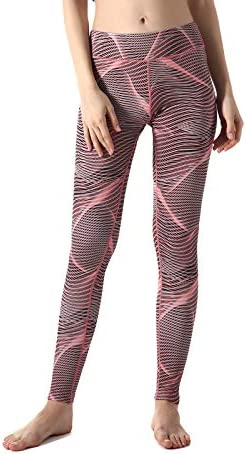 ZOANO High Waisted Printed Yoga Pants for Women Workout Leggings Running Pants 4