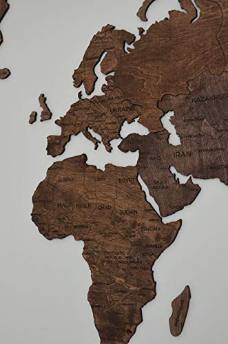Large World Map of the World Travel map Wall world Cork Rustic Home decor Office decor Wall decor Dorm Living room Interior design Fathers Day Gift - By Enjoy The Wood 100x50cm, 150x90cm, 200x102cm by Enjoy The Wood (Image #1)