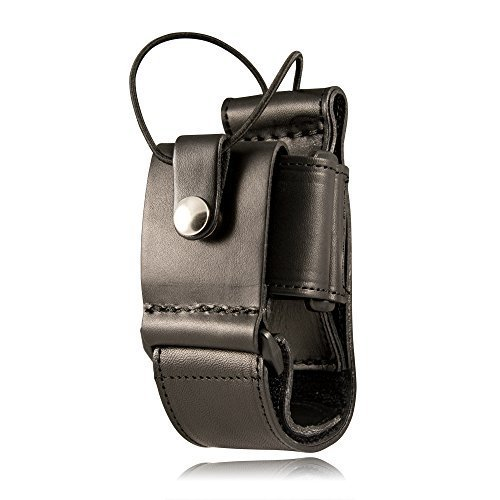 Boston Leather 5610-1 Plain Black Super Adjustable Radio Holder W/Nickel Snaps by BOSTON LEATHER by Boston Leather (Image #1)