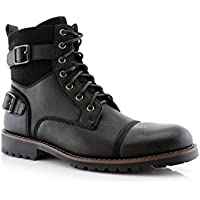 Polar Fox MPX808583 Mens Combat Ankle Boots Antique Finsh
