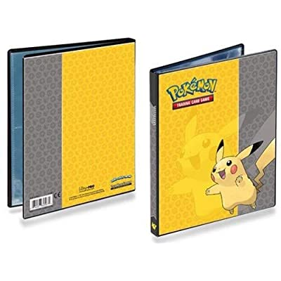 Ultra Pro Pokemon 4 Pocket Pikachu Binder Portfolio: Toys & Games