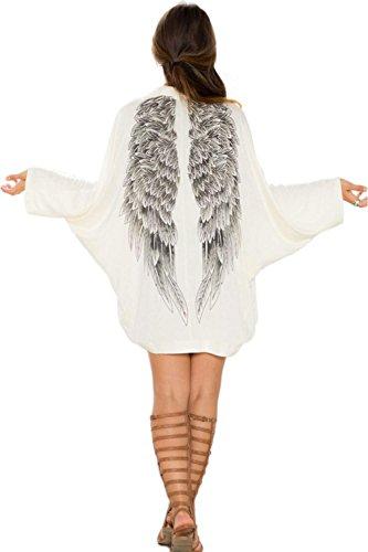 Cardigan Kimono Blouse Casual Minetom Femmes qSx8wn6