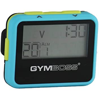 Gymboss Interval Timer and Stopwatch - LIGHT BLUE / YELLOW SOFTCOAT
