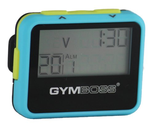 Gymboss Interval Timer and Stopwatch - Light Blue/Yellow SOFTCOAT (Best Run Walk Interval App)