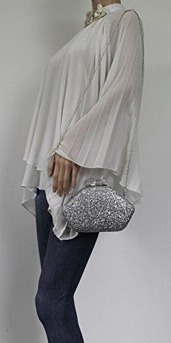 Prom Party Ladies Clutch Wedding Purse Celebrity Evening Mariah SWANKYSWANS Bag Shiny Silver Box Night Out wqzIntUx
