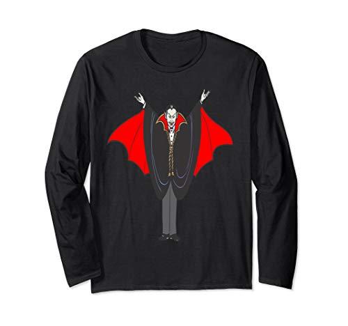 Vampire Dracula Count Happy Halloween Long Sleeve T Shirt]()