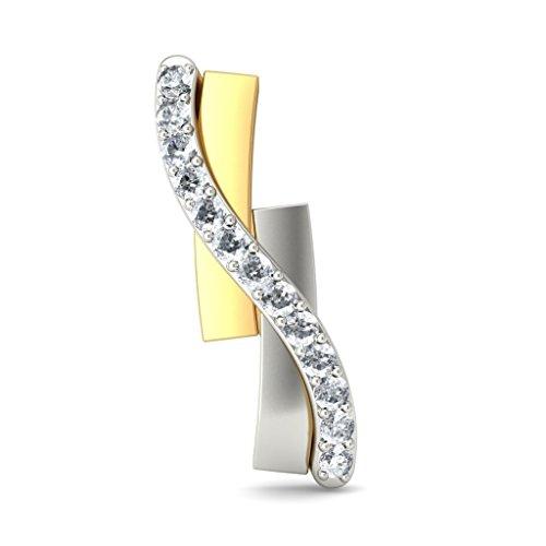 14K Or jaune 0,15CT TW White-diamond (IJ | SI) Boucles d'oreille à tige