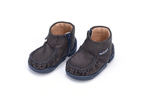 WalkkingsZip Around - Botines de Senderismo Bebé-Niños Braun (Midnight Brown)