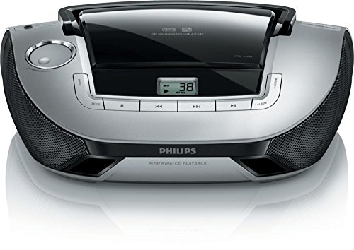 Philips AZ1137/55 CD Sound Machine Boombox Portable Stereo Speaker System
