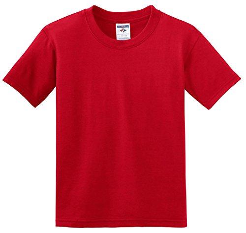 Jerzees Youth 5.6 oz.; 50/50 Heavyweight Blend� T-Shirt - TRUE RED - (Red Youth Heavyweight T-shirt)