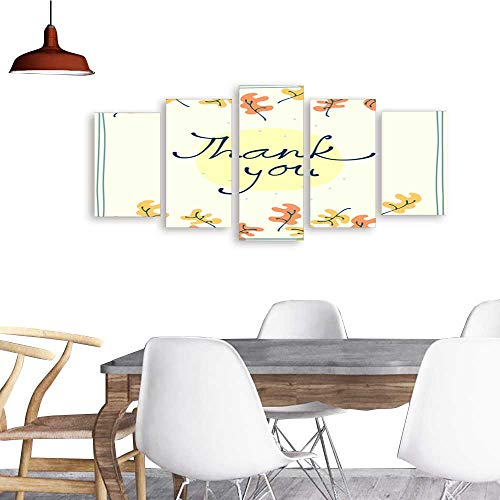 UHOO Paintings Combination DecorativeThank You Card Design Template Simple Greeting Card Elegant Note Label Thanksgiving Symbol sign1. Bedroom,Hotel and so on