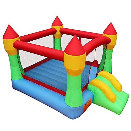 RETRO JUMP Inflatable Bounce House Bouncing Jump Moonwalk Playhouse and Slide Without Blower