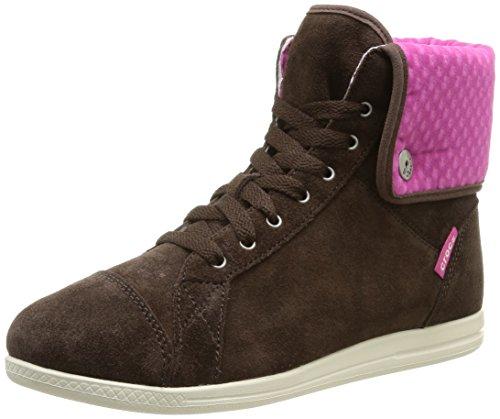 Baskets Fuchsia Crocs Femme Lo Hi Sneaker Suede Pro Marron Top Hautes Espresso BR6xwqB
