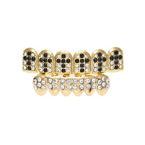Slug Costume Pattern (Hiphop Dental Set Golden Crystal Dental Set Cross Pattern tooth)